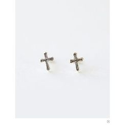PINKROCKET - Cross Earrings