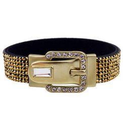 KINNO - Rhinestone Buckle Bracelet