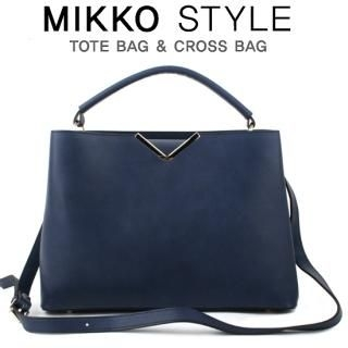 Mikko - Metallic-Detail Tote with Shoulder Strap