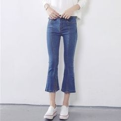 MePanda - Cropped Boot Cut Jeans