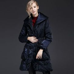 Y:Q - Plain Long Down Coat