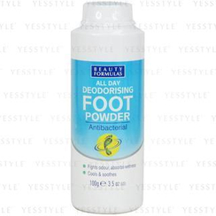 Beauty Formulas - All Day Deodorising Foot Powder (Antibacterial)