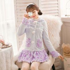 Candy Rain - Floral Woolen Long Coat