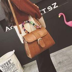 Rosanna Bags - Printed Scarf Faux Leather Shoulder Bag