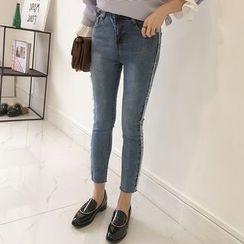 Little V - 短款窄身牛仔裤