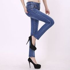 CASSY - Slim-Fit Washed Jeans