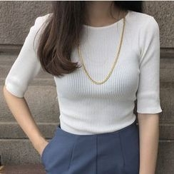 MATO - Elbow-Sleeve Knit Top