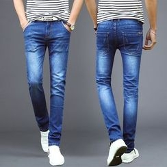 Denimic - Washed Slim Fit Jeans