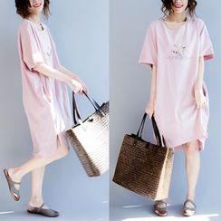 Epoch - Short-Sleeve Print T-Shirt Dress