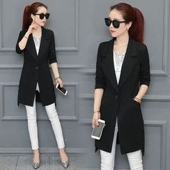 Ekim - Notch Lapel Long Coat