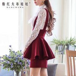 Dabuwawa - Zip-Back Layered Jumper Skirt