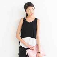 SO Central - Two Tone Sleeveless Top