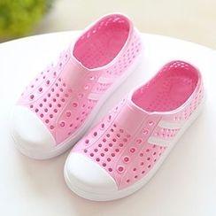 綠豆蛙童鞋 - 小童通花輕便鞋