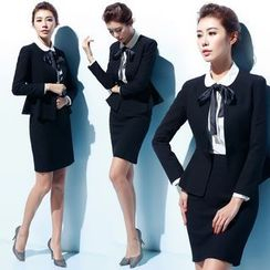Aision - Single-Button Blazer / Vest / Blouse / Pants / Skirt