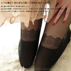 NANA Stockings - 碎花印花内搭裤