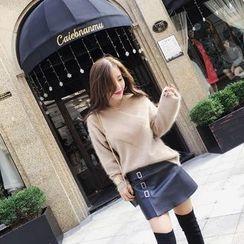 RUI - 仿皮短裙