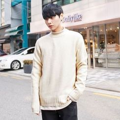 TOMONARI - Crew-Neck Long-Sleeve Knit Top