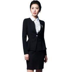 艾尚臣 - 一粒扣西裝 / 短裙