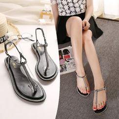 Monde - Embellished Thong Sandals