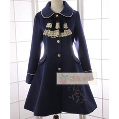 Reine - Embroidered Buttoned Coatdress