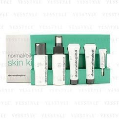 Dermalogica - Normal/ Oily Skin Kit: Cleansing Gel + Toner + Face Scrub + Active Moist + Eye Care