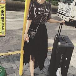 Frontline - Set: Lettering T-Shirt + Tiered Midi Skirt