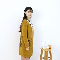 蘭芝 - 小熊印花粗織開衫