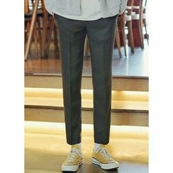 JOGUNSHOP - Flat-Front Dress Pants