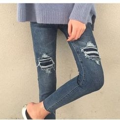 MATO - Distressed Skinny Jeans