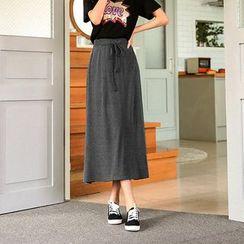 Seoul Fashion - Band-Waist Long Skirt