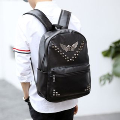ETONWEAG - Studded Faux Leather Backpack