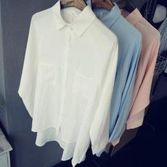 芷蓯夕 - 蝙蝠袖寬鬆襯衫