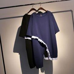 somniaa - Frill Trim Short Sleeve Tunic