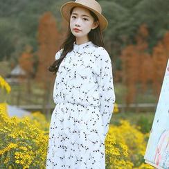 Sens Collection - Printed Long Sleeve Dress