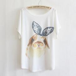 Maymaylu Dreams - Rabbit Print Crewneck T-Shirt