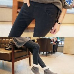 CLICK - Brushed-Fleece Leggings Pants