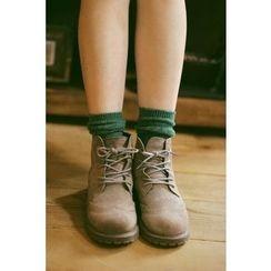 Socka - 菱格紋羊毛中筒襪