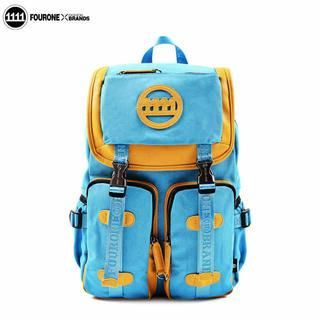 Fourone - Contrast-Trim Multi-Pocket Canvas Backpack
