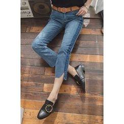 migunstyle - Frey-Hem Cropped Jeans