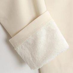 Styleonme - Brushed Fleece Leggings Pants
