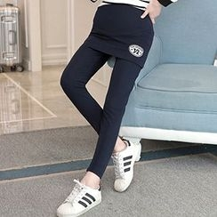 Fashion Street - Maternity Number Inset Leggings