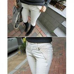 PEPER - Zip-Detail Skinny Pants