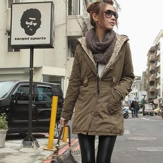 Faux-Fur Hooded Jacket