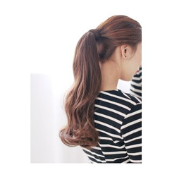 pinkage - Long Ponytail - Wavy