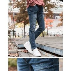 STYLEMAN - Washed Straight-Cut Jeans