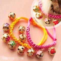 Pet Sweetie - Pet Bell Woven Choker