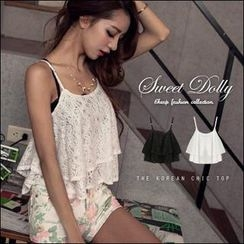 Sweet Dolly - Layered Lace Camisole