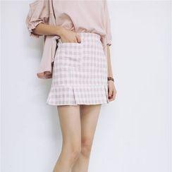 Porta - Gingham Skirt