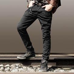 Mannmix - 直筒牛仔裤