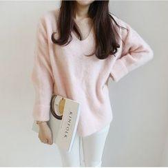 Emeline - Oversized V-Neck Sweater